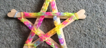 Flame: Loom Band Advent Stars