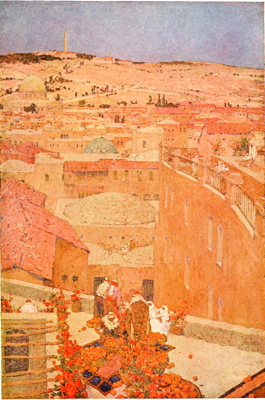 Jules Guérin, The Mount of Olives as Seen from Jerusalem, 1910