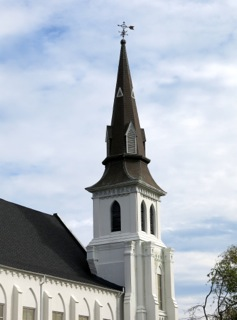 Steeple of Emanuel AME Church, Charleston, SC. Photo by Spencer Means from New York City, USA [CC BY-SA 2.0 (http://creativecommons.org/licenses/by-sa/2.0)], via Wikimedia Commons