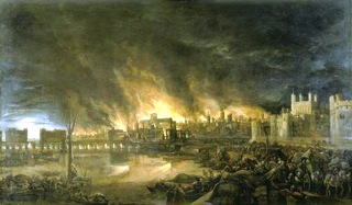 Unknown Dutch artist, The Great Fire of London