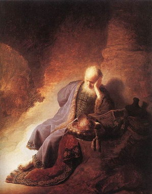 Jeremiah, the traditional writer of the Laments, mourns Jerusalem. (Wikimedia Commons)