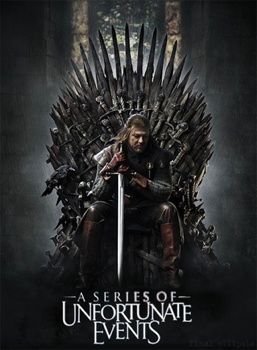 Parody of the Season 1 poster for Game of Thrones