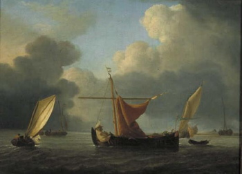 Willem van de Velde the Younger, A Brewing Storm at Sea, 1700
