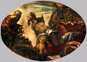 Jacopo Tintoretto, Jonah Leaves the Whale's Belly, 1577–78