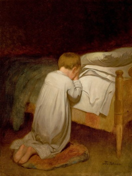 Eastman Johnson, Child at Prayer, c. 1873