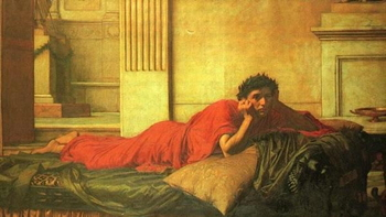 John William Waterhouse, The Remorse of Emperor Nero after the Murder of His Mother, 1878