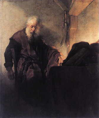 Rembrandt, St. Paul at His Writing-Desk, 1629–30