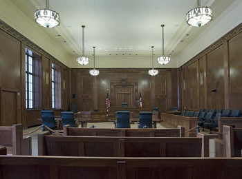 Courtroom, United States Courthouse, Davenport, Iowa