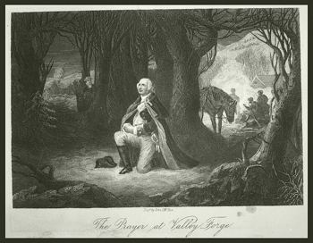 Henry Brueckner, The Prayer at Valley Forge, 1889, engraved by John C. McRae