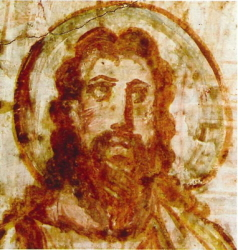 Head of Christ from the Commodilla catacomb