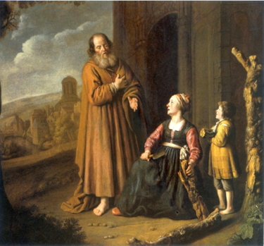 Jan Victors, Elijah and the Widow of Zarephath, 1640s