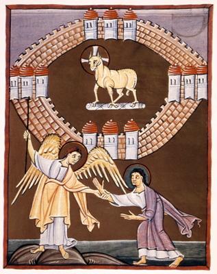 The New Jerusalem, Bamberger Apocalypse, c. 1000
