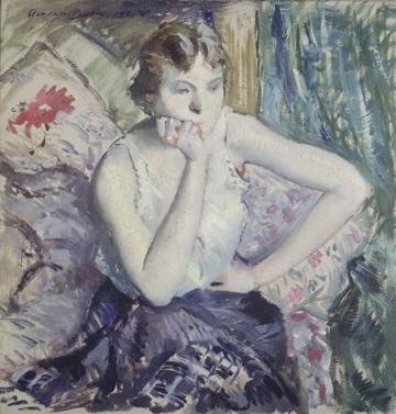 Adolphe Borie, Girl Meditating, c. 1916