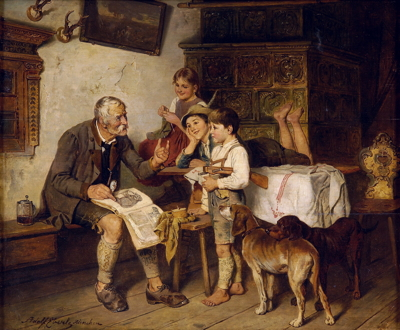 Adolf Eberle, The Natural History Lesson, before 1914