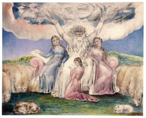 William Blake, Job and His Daughters, 1805
