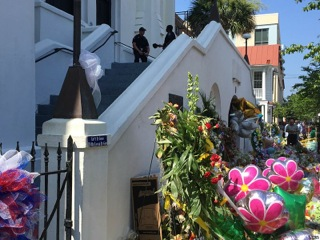 Emanuel AME Church memorial after the attack of June 17, 2015