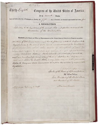 "Section 1 of the 13th Amendment reads: ""Neither slavery nor involuntary servitude, except as a punishment for crime whereof the party shall have been duly convicted, shall exist within the United States, or any place subject to their jurisdiction."""