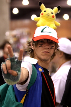 A Pokemon cosplayer at the Phoenix Comicon in 2011 (Wikimedia Commons, Gage Skidmore).
