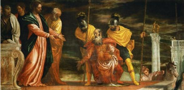 """Paolo Veronese, """"Jesus healing the servant of a Centurion"""" (Wikimedia Commons)."""
