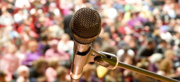 Microphone Against Audience