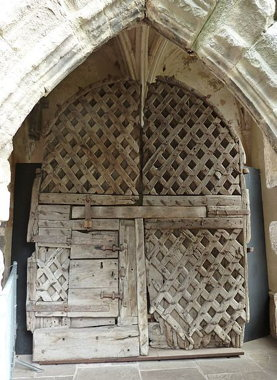 Door from Chepstow Castle in Wales (Wikimedia Commons, Andy Dingley)