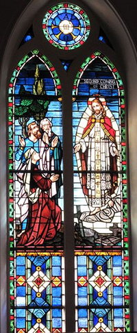 Stained Glass Window of Christ's Coming at St. Matthews Lutheran Church in Charleston, South CarolinaCo. (Wikimedia Commons)